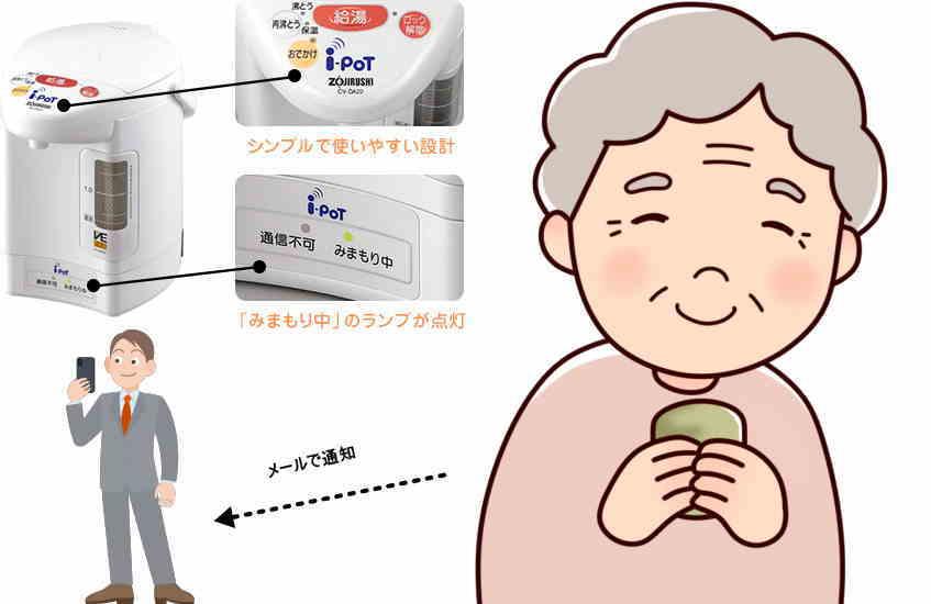 高齢者 見守り 家電 ポット